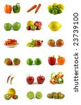 fresh vegetables and fruits on... | Shutterstock . vector #23739100