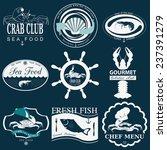 set of vintage sea food logos.... | Shutterstock .eps vector #237391279