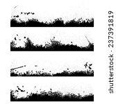 set of four blak ink blots... | Shutterstock .eps vector #237391819