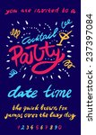 cocktail party invitation... | Shutterstock .eps vector #237397084