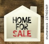 home for sale real estate sign | Shutterstock . vector #237402469