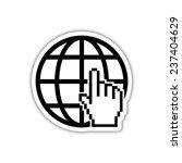internet   black vector icon... | Shutterstock .eps vector #237404629