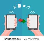 data sharing and transfer... | Shutterstock .eps vector #237407941