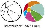 beach ball | Shutterstock .eps vector #237414001