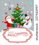 holiday card with santa claus... | Shutterstock .eps vector #237432997