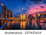 Fish Eye View Of Singapore Cit...