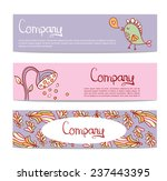 vector stylish floral banners... | Shutterstock .eps vector #237443395