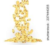 falling gold coins illustration | Shutterstock .eps vector #237444355