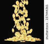 falling gold coins illustration | Shutterstock .eps vector #237444361