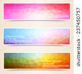 abstract colorful set of shiny... | Shutterstock .eps vector #237450757