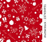 christmas background with some... | Shutterstock .eps vector #237454951