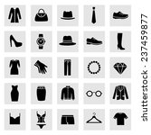 set of clothes icons. clothing...   Shutterstock .eps vector #237459877