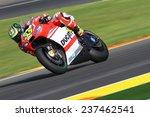Постер, плакат: British Ducati rider Cal