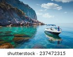 Woman Relaxing On A Boat In Th...
