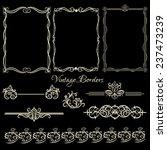 set of decorative  vintage... | Shutterstock .eps vector #237473239