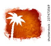 watercolor square paint stain... | Shutterstock .eps vector #237473569