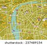Map Of Prague. Vector...