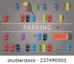 parking and cars. top view... | Shutterstock .eps vector #237490501