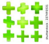green cross. vector