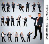 businessmans set with different ... | Shutterstock .eps vector #237500311
