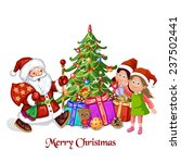 santa claus with children and... | Shutterstock .eps vector #237502441