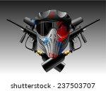 paintball mask and guns | Shutterstock .eps vector #237503707