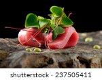 tuna sashimi and wasabi sauce.... | Shutterstock . vector #237505411