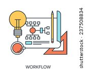 vector illustration of workflow ...