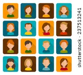 flat avatars female male with... | Shutterstock .eps vector #237513241