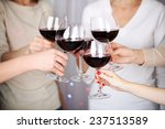 Woman Hands With Glasses Of...