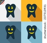 tooth happy face sign icon.... | Shutterstock .eps vector #237513931