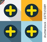 plus sign icon. positive symbol.... | Shutterstock .eps vector #237515389