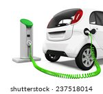 electric car in charging station | Shutterstock . vector #237518014
