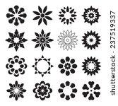set of black geometric flowers | Shutterstock .eps vector #237519337