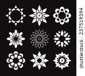 set of white geometric flowers | Shutterstock .eps vector #237519394