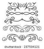 set of page decoration line... | Shutterstock .eps vector #237534121