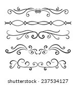 set of page decoration line... | Shutterstock .eps vector #237534127