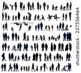 large set of people silhouettes.... | Shutterstock .eps vector #237536464