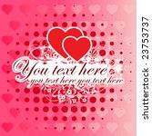 pink valentine's day background ... | Shutterstock .eps vector #23753737