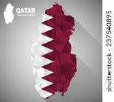 qatar flag overlay on qatar map ... | Shutterstock .eps vector #237540895