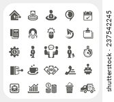 business and finance icons set | Shutterstock .eps vector #237542245