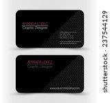 business card design set...   Shutterstock .eps vector #237544129