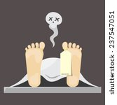 flat design of dead man tag... | Shutterstock .eps vector #237547051