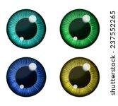 Vector Eyes Collection. Vector...