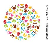 spring icons in circle | Shutterstock .eps vector #237554671