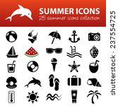 summer icons | Shutterstock .eps vector #237554725