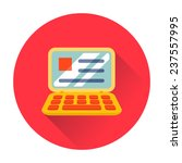 laptop icon technology... | Shutterstock .eps vector #237557995