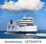 ferry boat in open sea | Shutterstock . vector #237565474