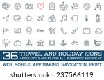 travel icons vector set  great... | Shutterstock .eps vector #237566119