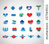 medical icons set   isolated on ...